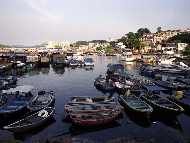 Berths for boats of Sai Kung